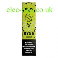 image shows a box of Ryse All-in-One Disposable E-Cigarette Melon Ice