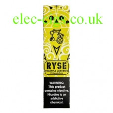 image shows a box of Ryse All-in-One Disposable E-Cigarette Pineapple Lemonade
