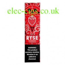 image shows a box of Ryse All-in-One Disposable E-Cigarette Strawberry