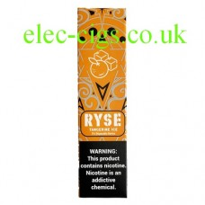 image shows  a box of Ryse All-in-One Disposable E-Cigarette Tangerine Ice