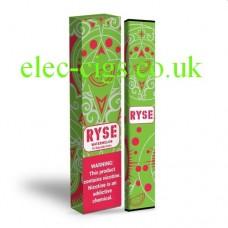 image shows a box of Ryse All-in-One Disposable E-Cigarette Watermelon