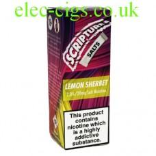 Lemon Sherbet 20 MG Nicotine Salt E-Liquid from Scripture
