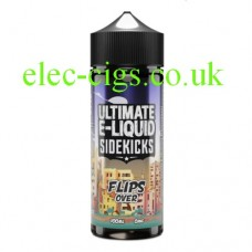 image shows a a bottle of Flips Over by Ultimate e-liquids