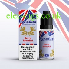Berry Menthol 10 ML E-Liquid from Signature