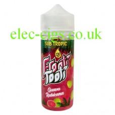image shows a bottle of Sub Tropic Frooti Tooti Guava Rubicana 100 ML E-Liquid