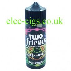 Image shows a bottle of Two Friends 100ML E-Liquid Apple Orange