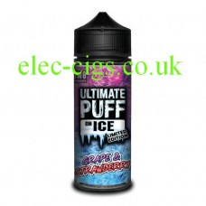 Grape & Strawberry 100 ML E-Liquid from the 'On Ice' Range by Ultimate Puff