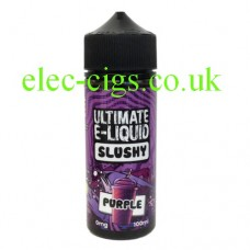 Image shows bottle of Purple 100 ML Slushy Range by Ultimate E-Liquid  on white surround