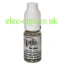 Image shows a bottle ofUncles 50-50 (VG/PG) Nicotine shot from elec-cigs.co.u