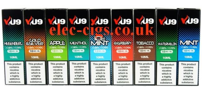 VU9 10 ML E-Liquids from Vapour Universe