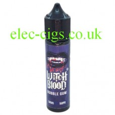 image shows a bottle of Bubblegum 50 ML E-Liquid by Witch Blood