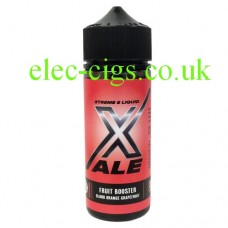 Image shows a bottle with a red label and it contains Fruit Booster by Xale 100 ML E-Liquid