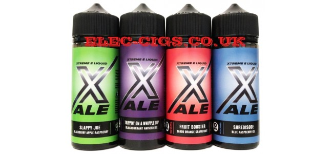 Image shows all four flavours in the Xale 100 ML E-Liquids range.