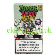 Apple Berry 50-50 Nic Salt 20 MG by Zombie Blood