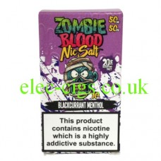Blackcurrant Menthol 50-50 Nic Salt 20 MG by Zombie Blood