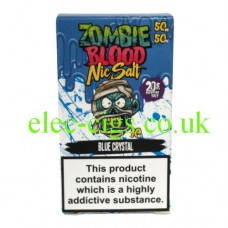 Blue Crystal 50-50 Nic Salt 20 MG by Zombie Blood