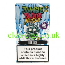 Blue Slush 50-50 Nic Salt 20 MG by Zombie Blood