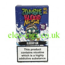 Blueberry Gum 50-50 Nic Salt 20 MG by Zombie Blood