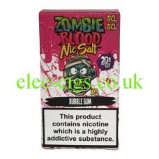 Bubble Gum 50-50 Nic Salt 20 MG by Zombie Blood