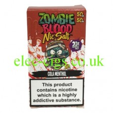 Cola Menthol 50-50 Nic Salt 20 MG by Zombie Blood