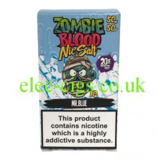 Mr Blue 50-50 Nic Salt 20 MG by Zombie Blood