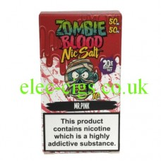 Mr Pink 50-50 Nic Salt 20 MG by Zombie Blood