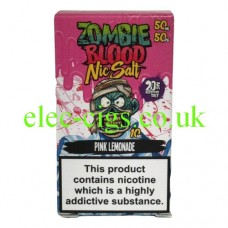 Pink Lemonade 50-50 Nic Salt 20 MG by Zombie Blood