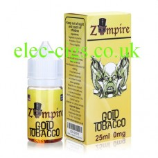Gold Tobacco E-Liquid by Zompire