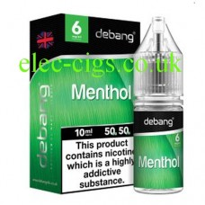 Menthol UK Made E-Liquid from Debang