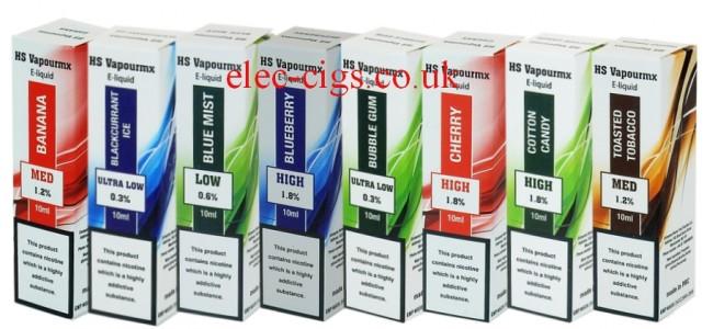 HS VapourMX Premium E-Liquids (10 ML)
