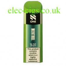 N One Disposable Nic Salt Pods: Menthol