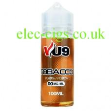 VU9: 100 ML Tobacco E-Juice