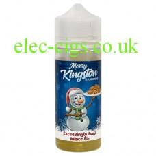 A bottle of Kingston 100 ML Exceedingly Good Mince Pie E-Liquid