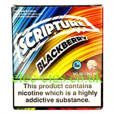 This box contains 3 bottles of the excellent Blackberry 3 x 10 ML E-Liquid by Scripture