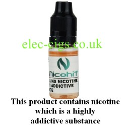 bottle of Nicohit Strawberry E-Liquid