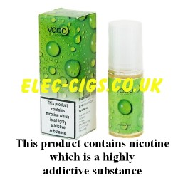 Blueberry 50-50(VG/PG) E-Juice from Vado showing bottle and box