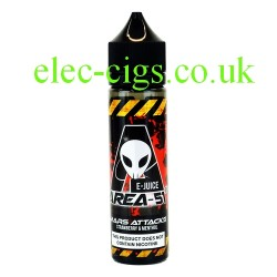 a bottle of 50 ML Mars Attacks E-Liquid from Area 51