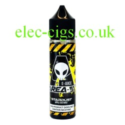 a bottle of 50 ML Stardust E-Liquid from Area 51