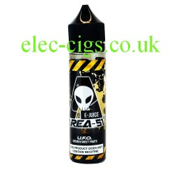 a bottle of 50 ML U.F.O. E-Liquid from Area 51