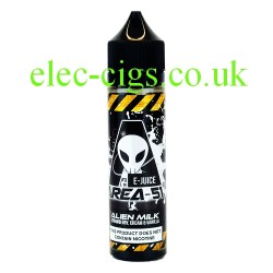 a bottle of 50 ML Alien Milk E-Liquid from Area 51