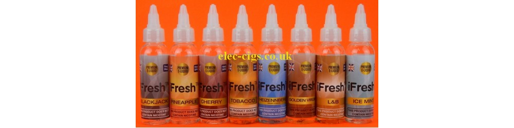 a selection of 50 ML iFresh E-Liquids Zero Nicotine