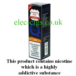 This shows the box containing Amazonia 10 ML Blueberry Flavour E-Liquid