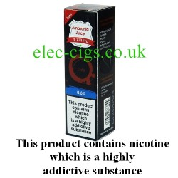 This shows the box containing Amazonia 10 ML Cola Flavour E-Liquid