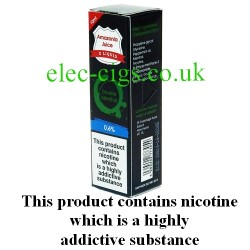 This shows the box containing Amazonia 10 ML Double Menthol Flavour E-Liquid