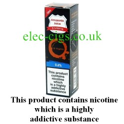 This shows the box containing Amazonia 10 ML G Virginia Flavour E-Liquid