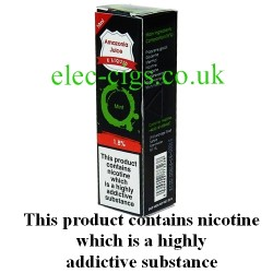 This shows the box containing Amazonia 10 ML Mint Flavour E-Liquid