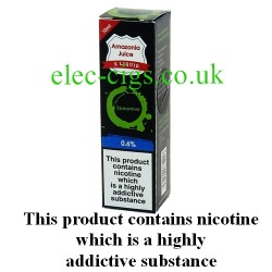 This shows the box containing Amazonia 10 ML Spearmint Flavour E-Liquid