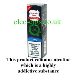 This shows the box containing Amazonia 10 ML Triple Menthol Flavour E-Liquid