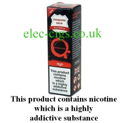This shows the box containing Amazonia 10 ML Watermelon Flavour E-Liquid