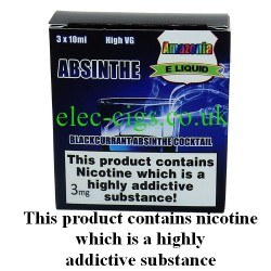 Absinthe 3 x 10 ML E-Juice by Amazonia showing its packaging
